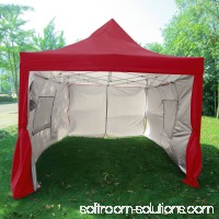 Quictent Privacy 10x15 EZ Pop Up Canopy Party Tent Gazebo 100% Waterproof with Sides and Mesh Windows Black