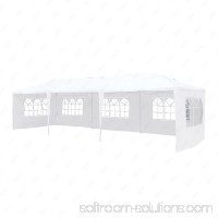 Uenjoy 10'x20' Canopy Party Wedding Tent Event Tent Outdoor Gazebo White 4 Sidewalls