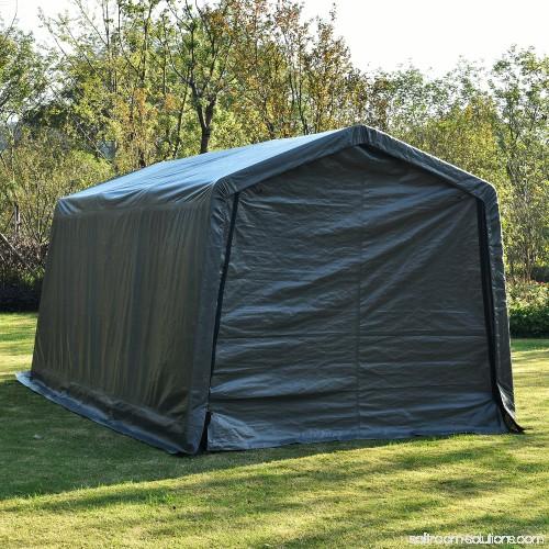 Outdoor Car Storage >> Outdoor 10x15x8ft Carport Canopy Tent Car Storage Shelter Garage W