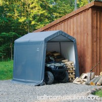 Shed-in-a-Box 8' x 8' x 8' Peak Style Storage Shed, Gray 554795652