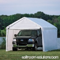 Shelterlogic Max AP Canopy 3-in-1 10' x 20' 1-3/8 4-Rib Frame White Cover Enclosure and Extension Kits 554797773