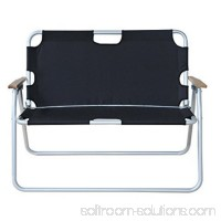 Outsunny 2 Person Folding Aluminum Love Seat Camping Chair