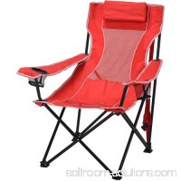 Ozark Trail Oversized Mesh Lounge Camping Chair with Cup Holders 553349217