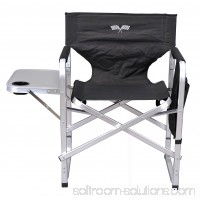Stylish Camping Outdoor Folding Director's Chair w/ Full Back - Black/Flag 564469584