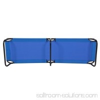 Best Choice Products 74in Portable Folding Camping Cot Guest Bed w/ Steel Frame - Blue