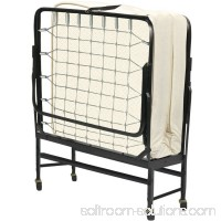 Fully Assembled Portable Rollaway Folding Cot Bed with Mattress, Multiple Sizes