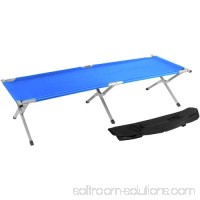 Trademark Innovations Aluminum Portable Folding Camping Bed and Cot, Portable Bed, 260 lbs Capacity 564168208