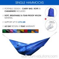 Yes4All Single Lightweight Camping Hammock with Carry Bag   566639046