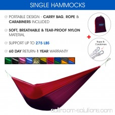 Yes4All Single Lightweight Camping Hammock with Carry Bag (Green) 566637782