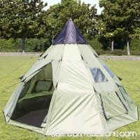 Best Choice Products BCP 10'x10' Teepee Camping Tent Family Outdoor Sleeping Dome W/ Carry Bag