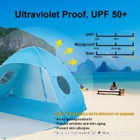 iCorer Extra Large Pop Up 3-Person Beach Tent, Light Blue   566064533