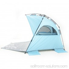 Outdoor Deluxe Beach Tent,Automatic Pop Up Instant Portable Outdoors Beach Tent, UV Protection Sun Shelter,Easy set up