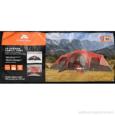 Camping & Hiking Ozark WT172115 Trail 10 Person Family Tent