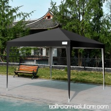 Upgraded Quictent 10x10 EZ Pop Up Canopy Gazebo Party Tent 100% Waterproof with Sidewalls and Mesh Windows (Black)