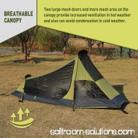 WEANAS 1-2 Backpacking Tent Double Layer Large Space for Outdoor Camping Green