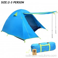 WEANAS 3-4 Backpacking Tent Double Layer Large Space for Outdoor Camping Azure
