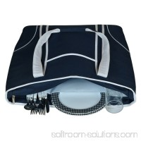 Picnic at Ascot Bold Insulated Large Picnic Tote - Navy and White