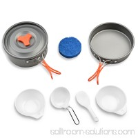 Camping Cookware Kit Outdoor Backpacking Gear & Hiking Cooking Equipment 8pcs Pot Pan Kit 567213618