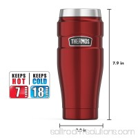 Thermos Vacuum Insulated Travel Tumbler, 16 oz, Cranberry   554414106