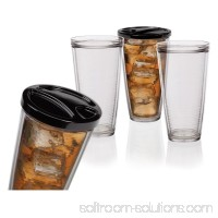 Creative Bath 22 oz. Insulated Tumblers with Travel Lids - Set of 6
