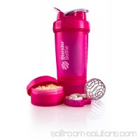 BlenderBottle 22oz ProStak Shaker with 2 Jars, a Wire Whisk BlenderBall and Carrying Loop FC Cyan   567270554