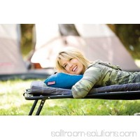 Coleman Compact Fold N' Go Poly Cotton Outdoor Camping Travel Pillows (2 Pack)