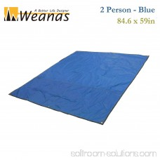 WEANAS 2-3-4 Person Outdoor Thickened Oxford Fabric Camping Shelter Tent Tarp Canopy Cover Tent Groundsheet Camping Blanket Mat (Blue (2 Person))