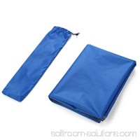 Yahill 2-3-4 Person Outdoor Thickened Oxford Fabric Camping Shelter Tent Tarp Canopy Cover Tent Groundsheet Camping Blanket Mat (Blue - 2 Person)