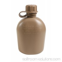 Rothco G.I. 3 Piece 1 Quart Plastic Canteen, Coyote Brown