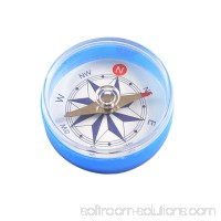 "Unique Bargains Unique Bargains 1.6"" Dia Portable Clear Round Compass Travel Helper"