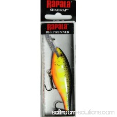 Rapala Shad Rap Lure Size 07, 2 3/4 Length, 5'-11' Depth, 2 Number 6 Treble Hooks, Crawdad, Per 1 000907756