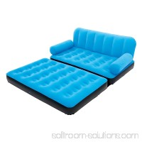 Bestway Multi-Max Inflatable Air Couch or Double Bed with AC Air Pump, Blue 552614543