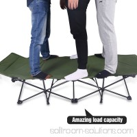 REDCAMP Camping Cots for Adults, Folding Cot Bed with Attached Pillow, Easy & Portable Cot, Free Storage Bag Included, 75.2x28x18.5 inches.