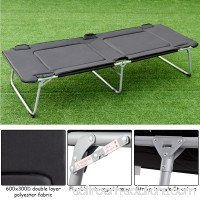 Costway Folding Oversize Adult Portable Camping Bed Cot Military Hiking Outdoor Travel