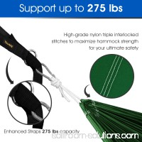 Yes4All Single Lightweight Camping Hammock with Strap & Carry Bag (Black/Yellow) 566637732