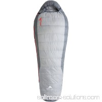 Ozark Trail 40 Degrees Fahrenheit Mummy Style Down Sleeping Bag, Cool Gray 556395182